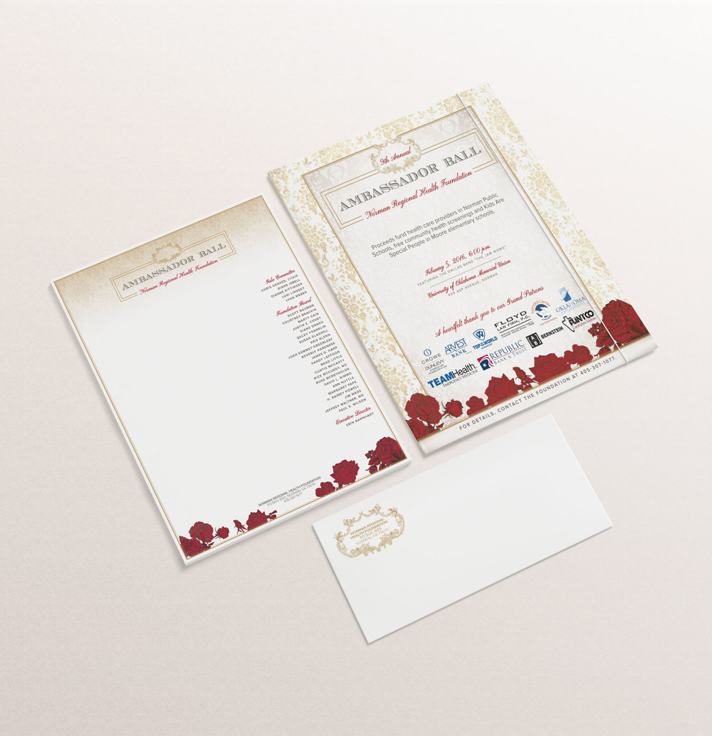 NRHF Gala Ads Stationary Design