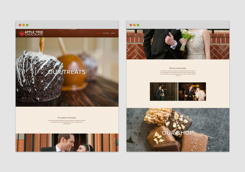 Apple Tree Chocolate Website Portfolio