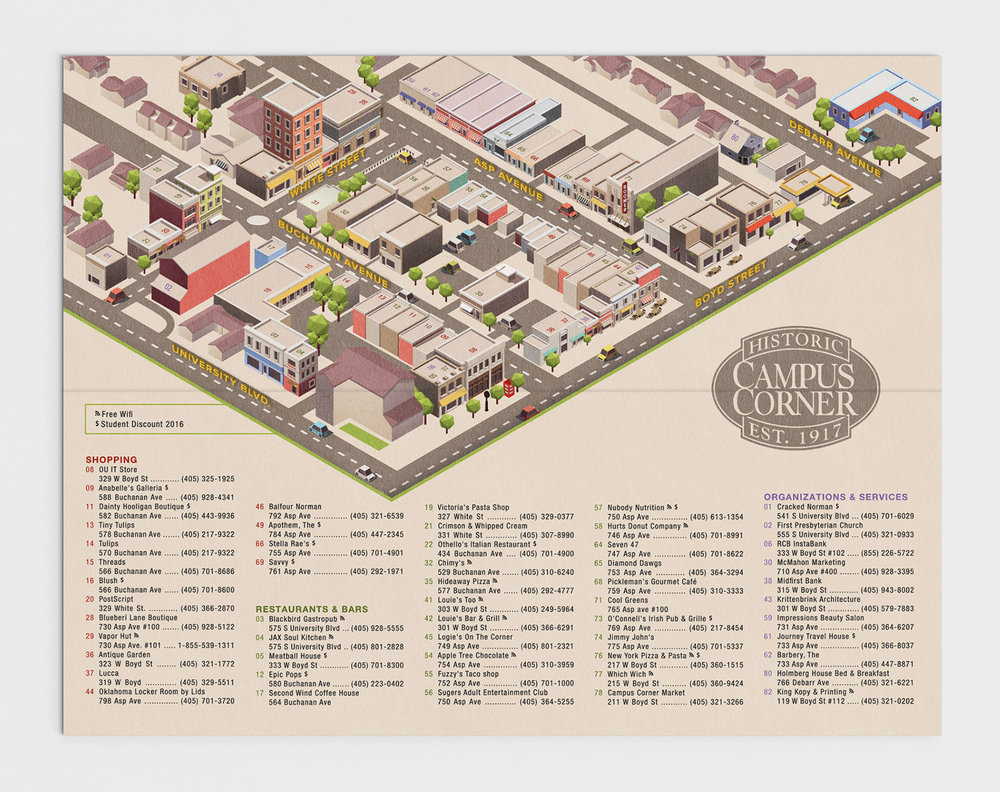 Campus Corner Map Layout