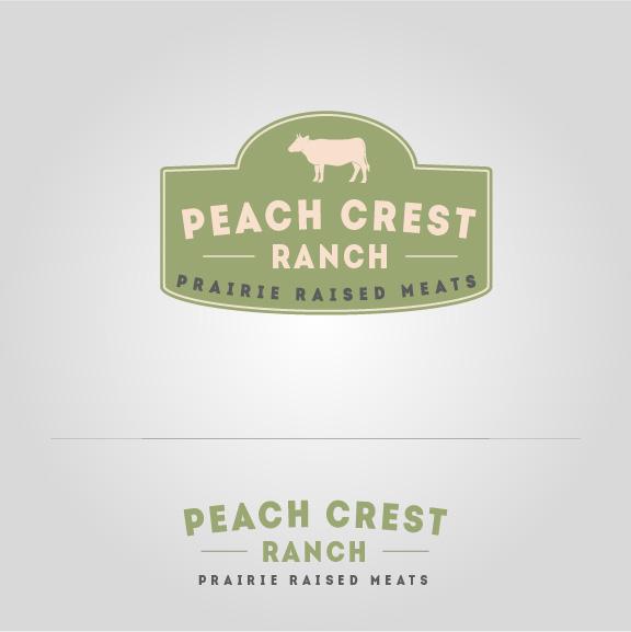 Peach Crest Cow Sign