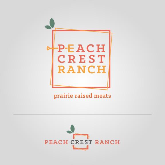 Peach Crest Logo Sign