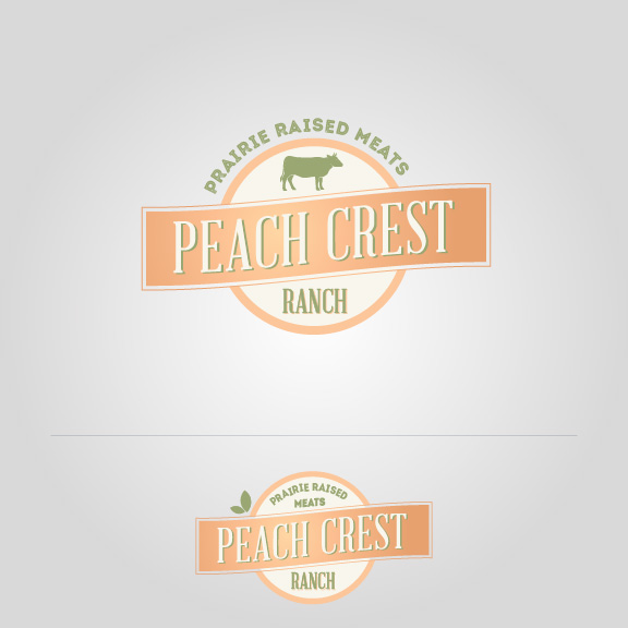 Peach Crest Orange Logo