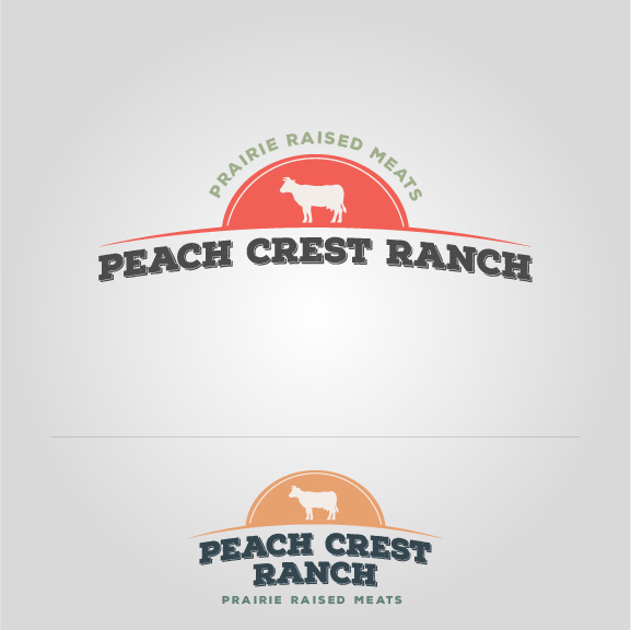 Peach Crest Red and Orange Logo