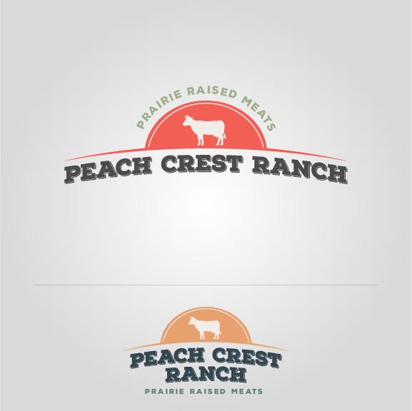 Peach Crest Red and Orange Logo