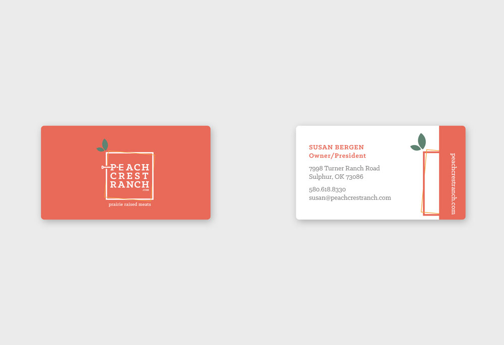 Peach Crest Ranch Business Cards