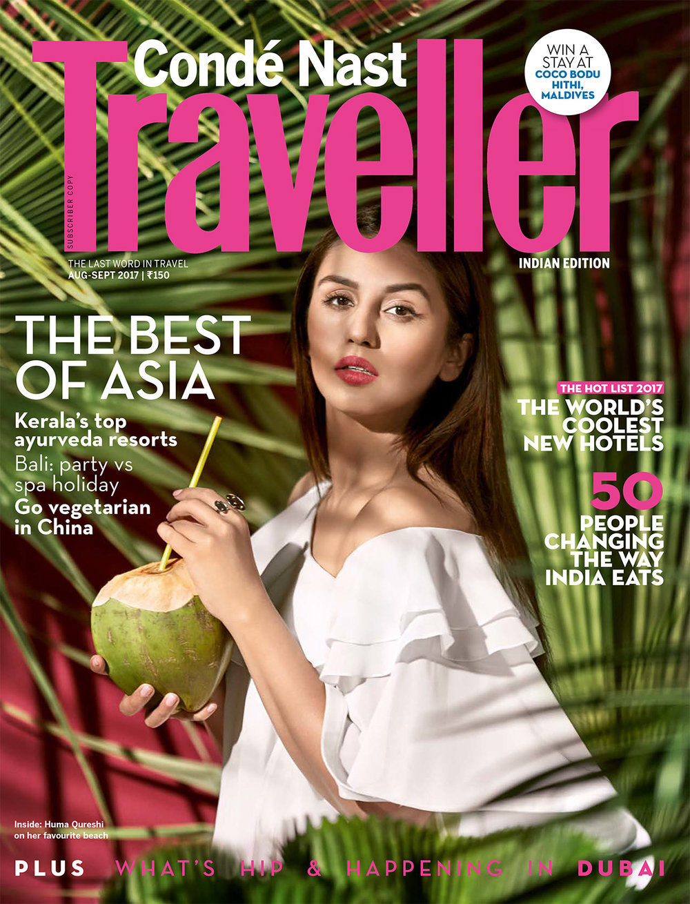 CN TRAVELLER - Huma Qureshi Cover_CNT Aug-Sep 2017.jpg