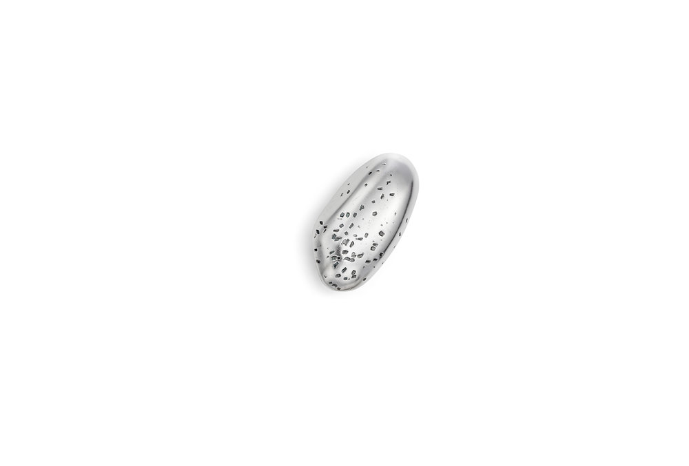 Sterling silver hollow pebble.Size Small Est 2.5cm x 1c  m £140