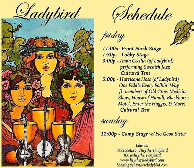 #PhillyFolkFest schedule!!! #pff2017 #folksongsociety #folkfest #nogoodsister #oldcrowmedicineshow #blackhorsemotel #houseofhamill #enterthehaggis #hurricancehoss #annacecilia #swedishmusic #bluegrass #chickabiddy #folkmusic #festivals #fai #folkalliance