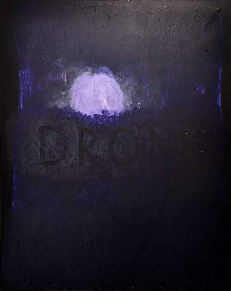 DRONE; 60x48in, acrylic on canvas