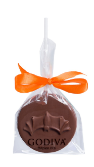Godiva dark chocolate bat lolly