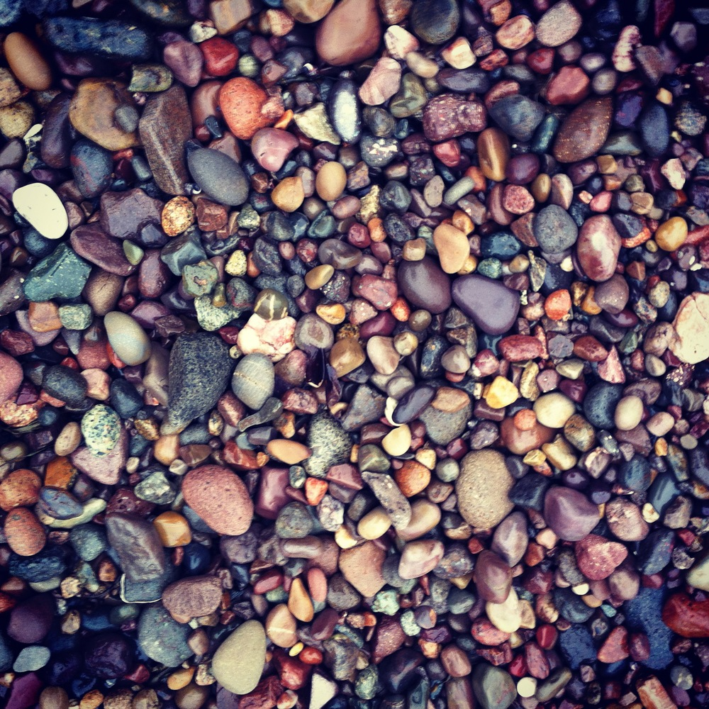 Rocks on our beach.