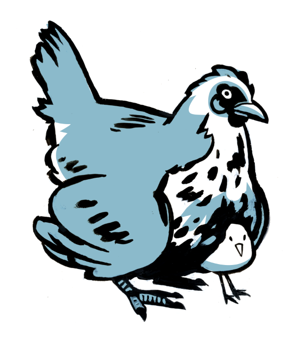 Mother Hen spot illustration
