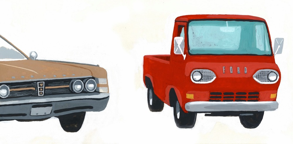 "D.B. Dowd,  1967 Chrysler New Yorker and 1965 Ford Econoline Pickup,  from ""Shanghai Pictorial,""  Spartan Holiday  No. 1, 2012."