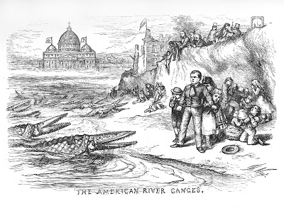 "Visual rhetorician Thomas Nast offers up an anti-Catholic broadside in ""American Ganges,"" published by Harper's Weekly on September 30, 1871 (and reprised with modifications on May 8, 1875). A thorough discussion of the image provided here."