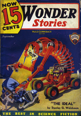 Wonder Stories   cover illustration, September 1935
