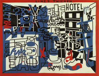 Stuart Davis,  The Paris Bit , 1959, a reworking of   Rue Lipp  , a Parisian view from 1928.