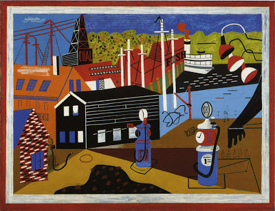 Stuart Davis,  Landscape with Garage Lights,  1932