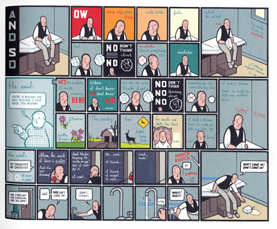 Chris Ware, page from Jimmy Corrigan, The Smartest Kid on Earth, Acme Novelty Library, serialized 1995-2000. Graphic novel compiled and published 2000 by Pantheon.