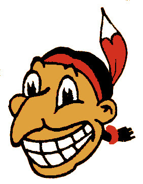 Chief Wahoo logotype, in use from 1946 to 1950
