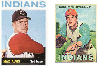 baseball cards, Max Alvis and Sam McDowell, 1964