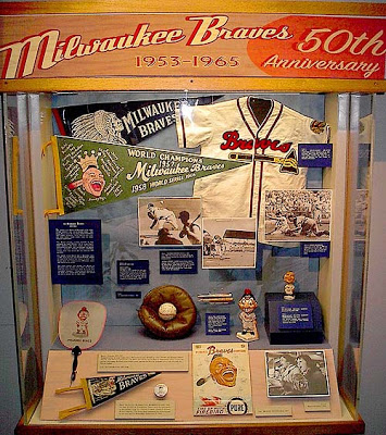 Exhibition case, Milwaukee Braves, 1953-1965, Wisconsin Historical Society, 2003