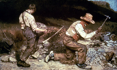 Gustave Courbet, The Stonebreakers, 1849 (destroyed in WW2)