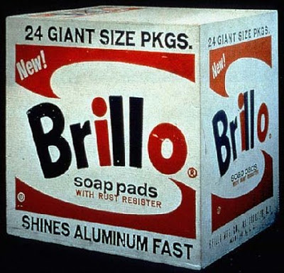 Andy Warhol, Brillo Box, 1964   Warhol, installation shot of same