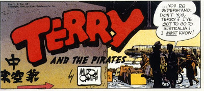 Milton Caniff,  Terry and the Pirates  Sunday masthead, December 29, 1946