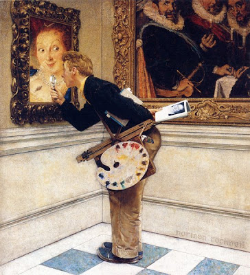 Norman Rockwell, The Art Critic, Saturday Evening Post cover illustration, April 16, 1955.