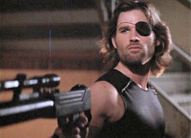 Kurt Russell as Snake Plissken, in Escape from New York. 1981. Directed by John Carpenter. (And shot in St. Louis.)