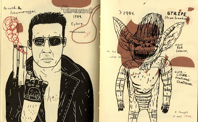Todd, Badassess: Arnold Schwarzenegger as theTerminator, and a Gremlin.