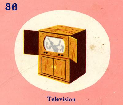 C. Clement,Television, circa 1950.