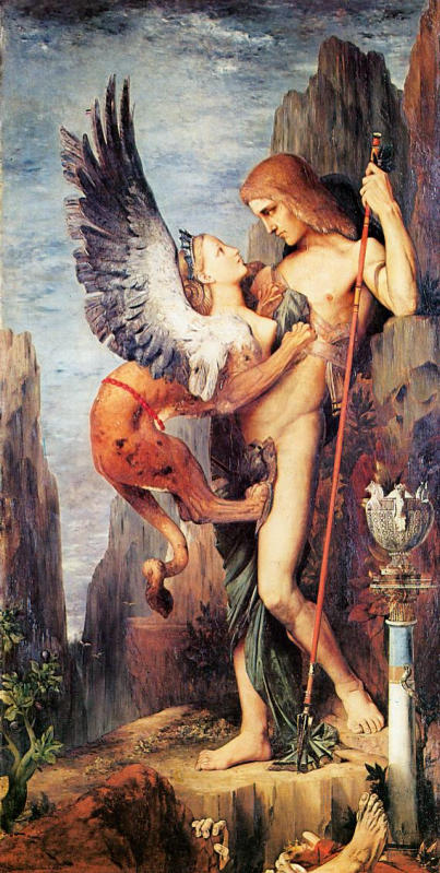 Gustave Moreau, Oedipus and Sphinx, 1864
