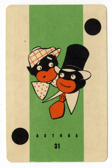 Illustrator uncredited, Actors Card, Old Gypsy Fortune-Telling game, Whitman Publishing, Racine Wisconsin, 1936