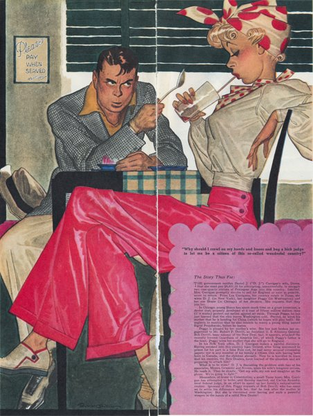 Robert O. Reid, interior illustration for the August 26, 1939 edition of Collier's.