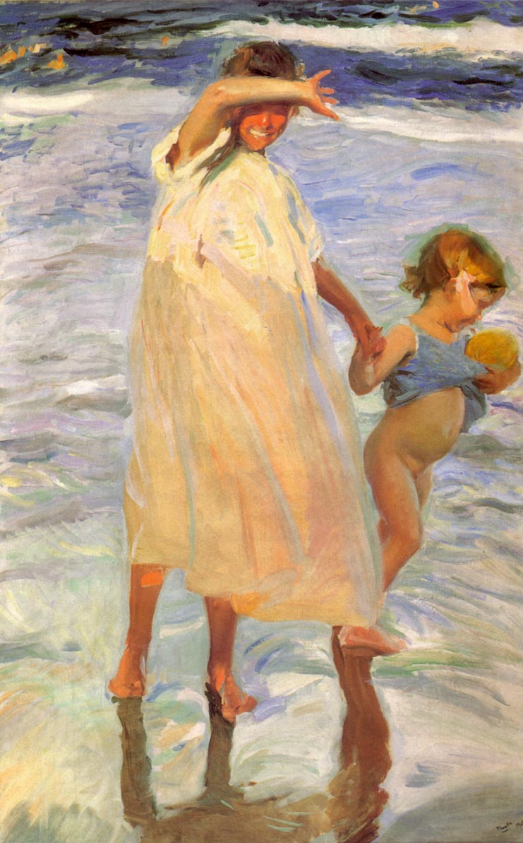 Joaquin Sorolla y Bastida, Two Sisters, Valencia, 1909; oil on canvas; now in the collection of the Art Institute of Chicago, once in the collection of the Saint Louis Art Museum (SLAM).