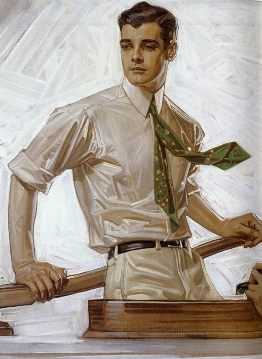 Leyendecker, Arrow Collar ad, Charles Beach, model, 1922