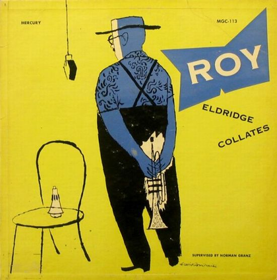 David Stone Martin,  Roy Eldridge Collates , album cover illustration, Mercury/Clef Records, 1952