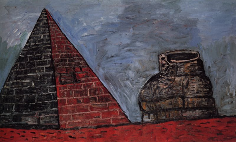 Guston, Pyramid and Shoe, 1977