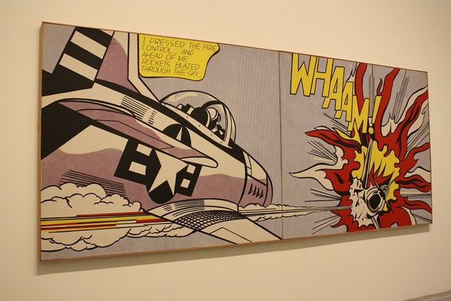 Roy Lichtenstein, WHAAM, magna on canvas, 1963, photograph by Matt Duarte, 2010(?)