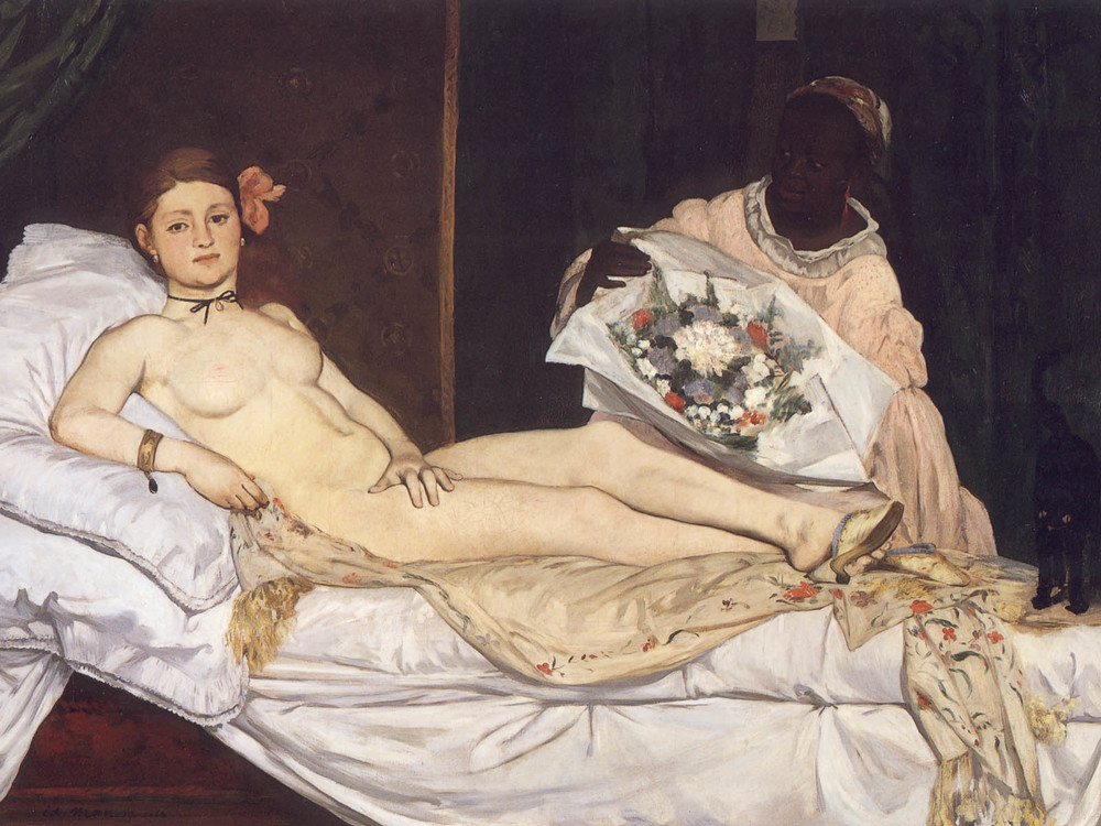 Edouard Manet, Olympia, oil on canvas, 1863