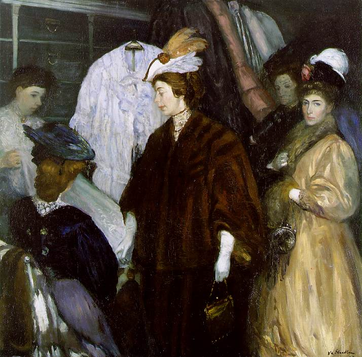 William Glackens, The Shoppers, oil on canvas, 1907