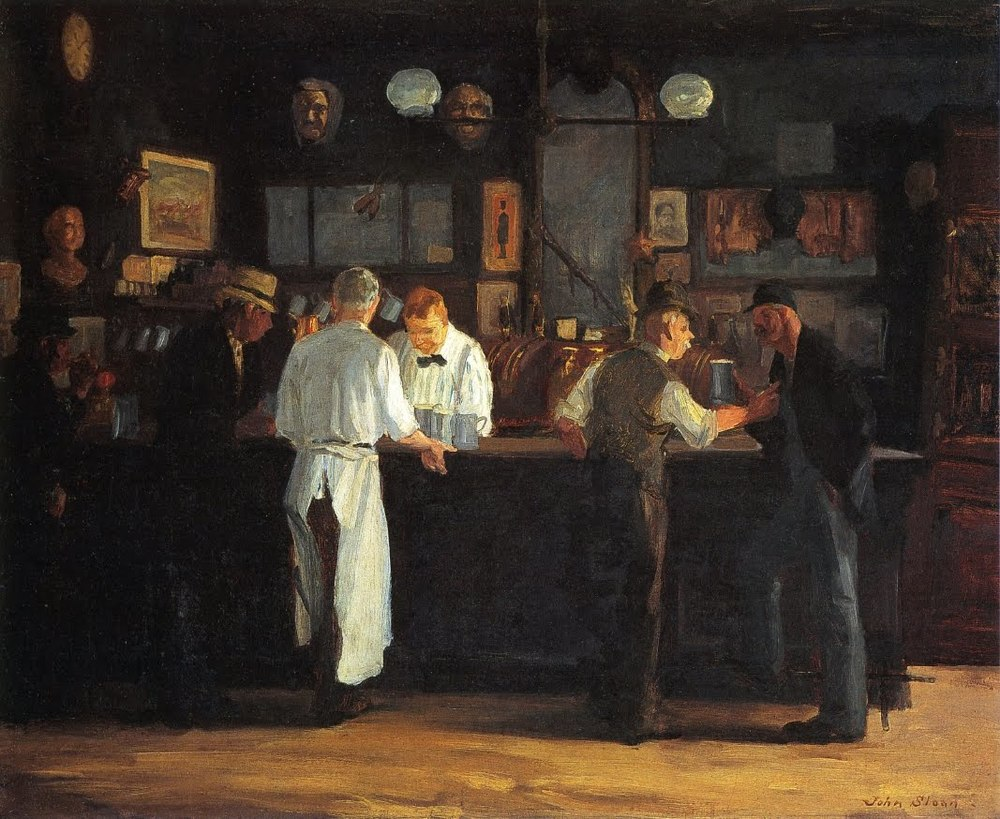 John Sloan, McSorley's Bar, oil on canvas, 1912