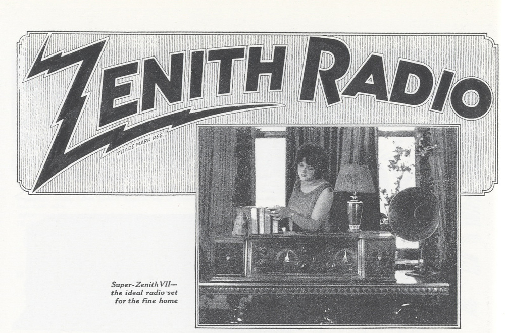 Designer unknown, wordmark for Zenith Radio, circa 1925