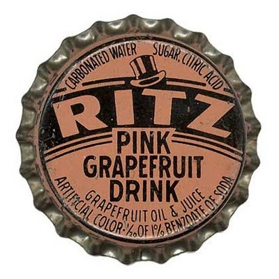 Designer unknown, bottle cap designs, Ritz Grapefruit and Jurk Lemon soda, mid-twentieth century