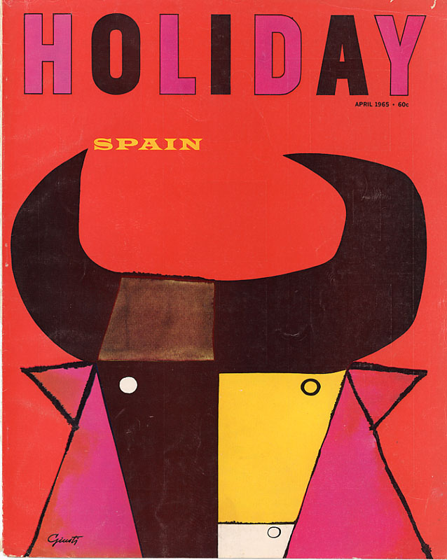 George Giusti, cover design for  Holiday  Magazine, 1965