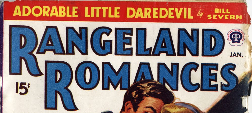 designer unknown, wordmark for  Rangeland Romance , a Popular Publication, January 1948