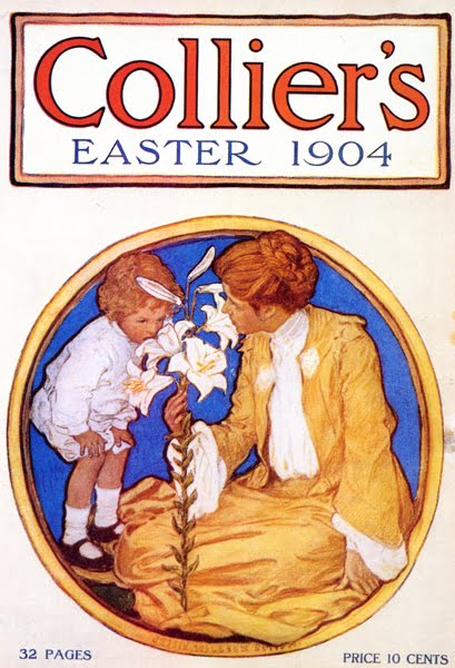 Jessie Willcox Smith, Mother and Child with Easter Lily, cover illustration for Collier's, 1904
