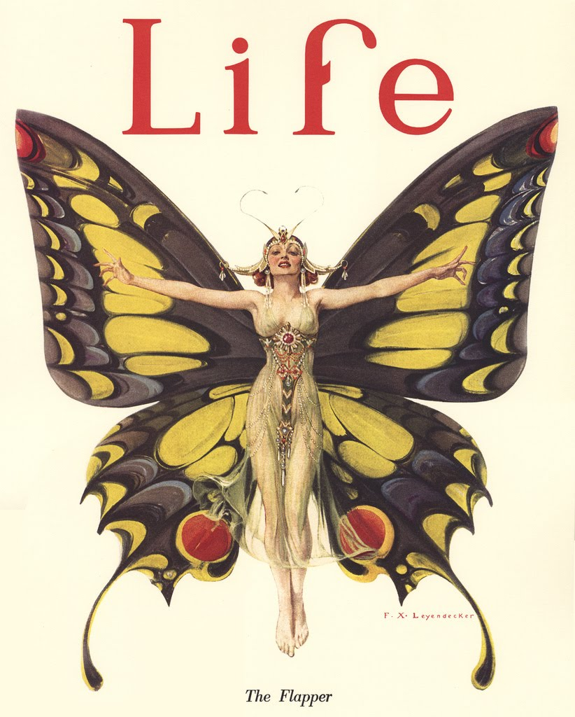 F.X. Leyendecker (troubled brother of J.C.), The Flapper, cover illustration of Life Magazine, 1922