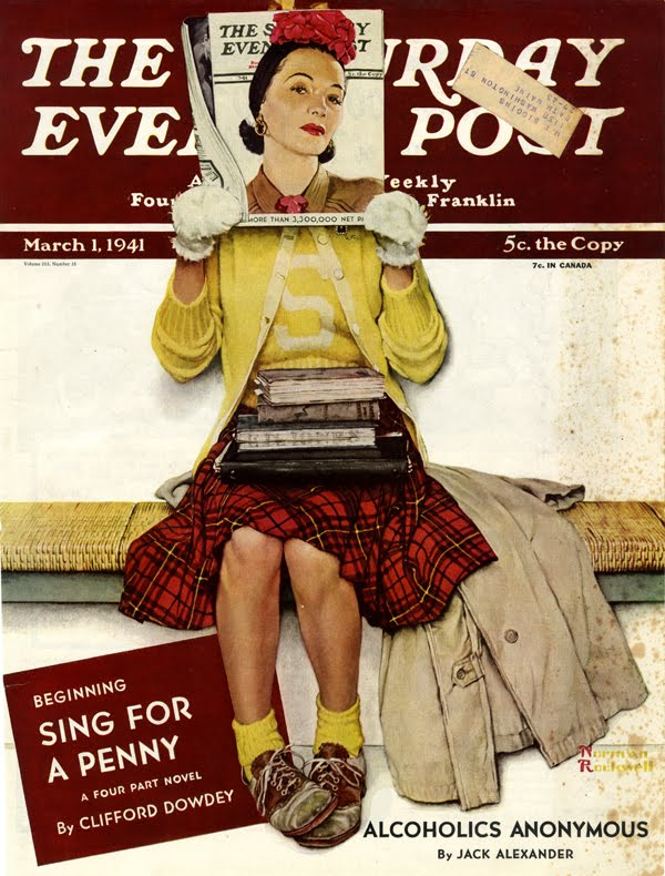 Norman Rockwell, The Double Take, cover illustration for the Saturday Evening Post, March 1, 1941